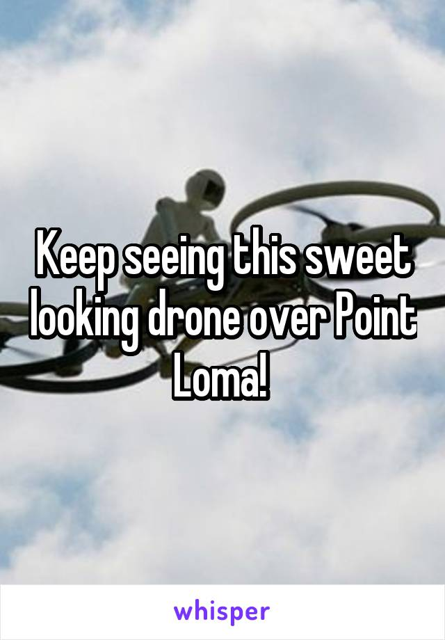 Keep seeing this sweet looking drone over Point Loma!
