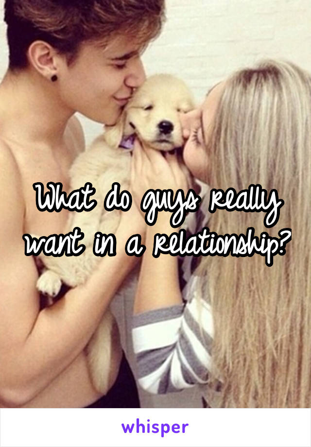 What do guys really want in a relationship?