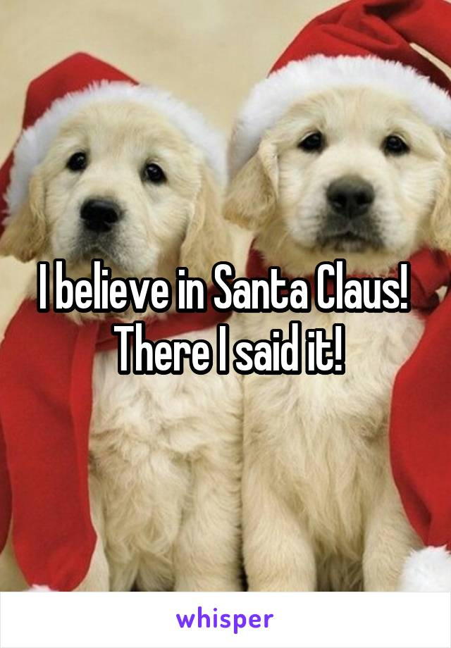 I believe in Santa Claus!  There I said it!