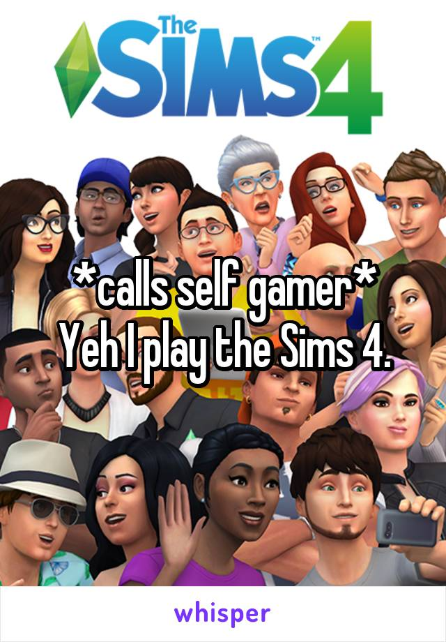 *calls self gamer* Yeh I play the Sims 4.