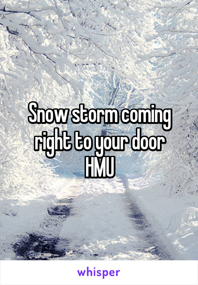 Snow storm coming right to your door HMU