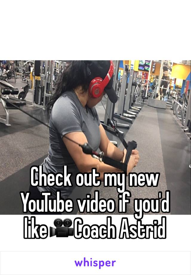 Check out my new YouTube video if you'd like🎥Coach Astrid