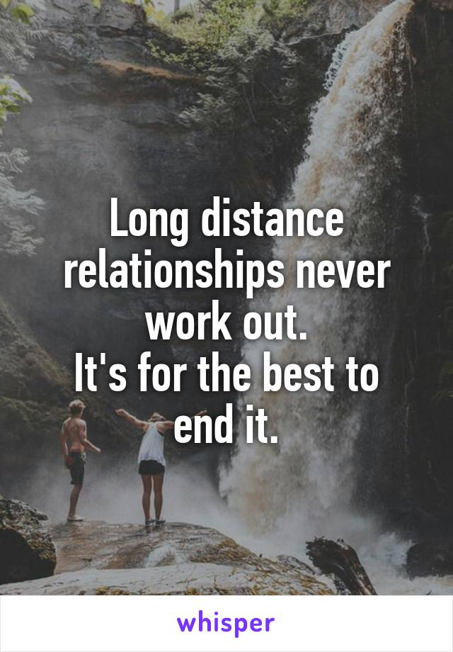 Do long distance relationships work out