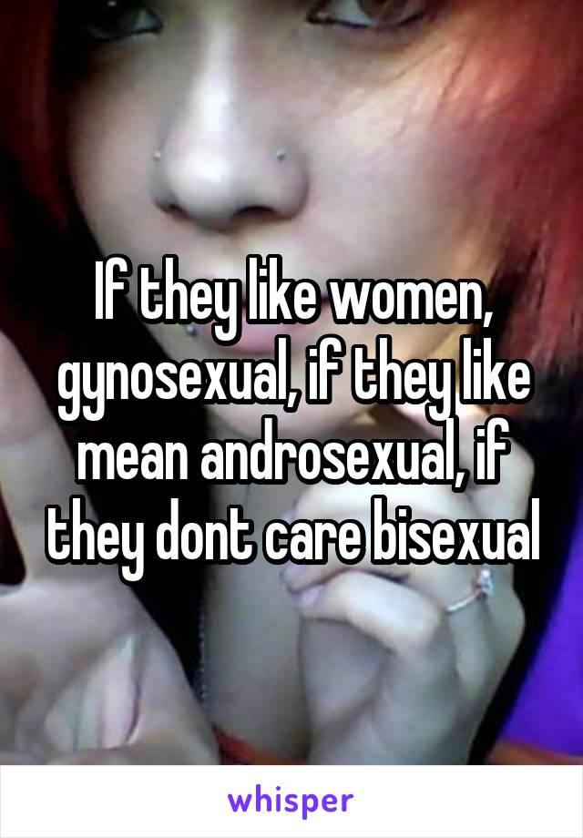 Gynosexual def