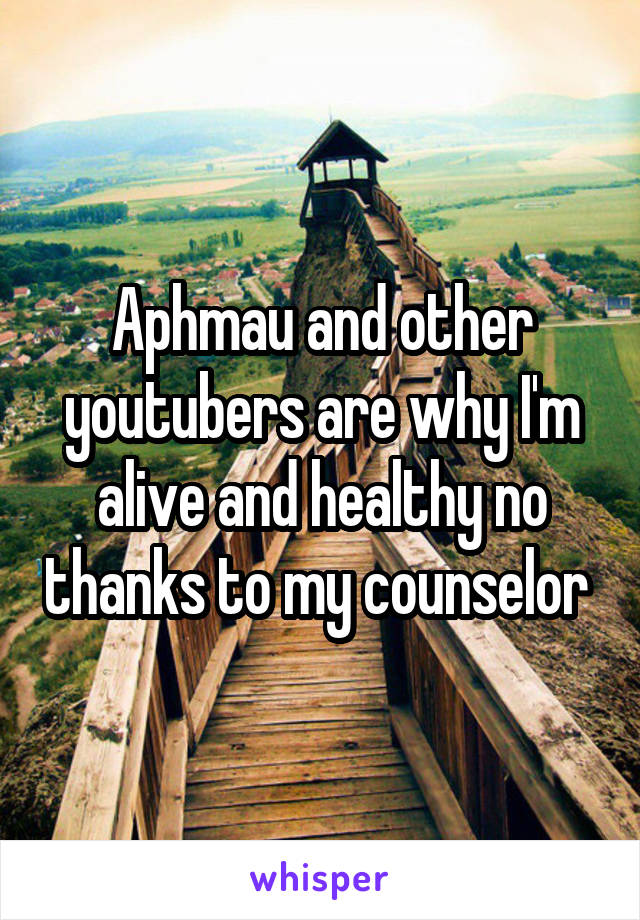 Aphmau and other youtubers are why I'm alive and healthy no thanks to my counselor
