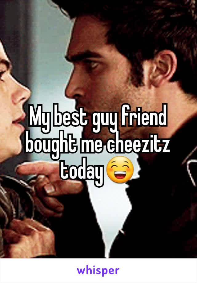 My best guy friend bought me cheezitz today😁