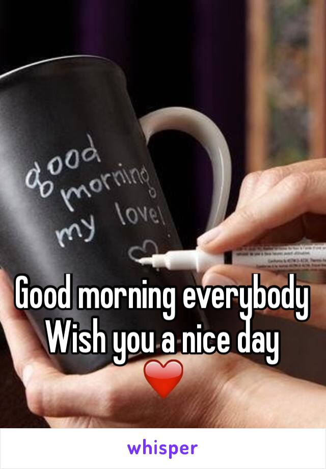 Good morning everybody  Wish you a nice day  ❤️