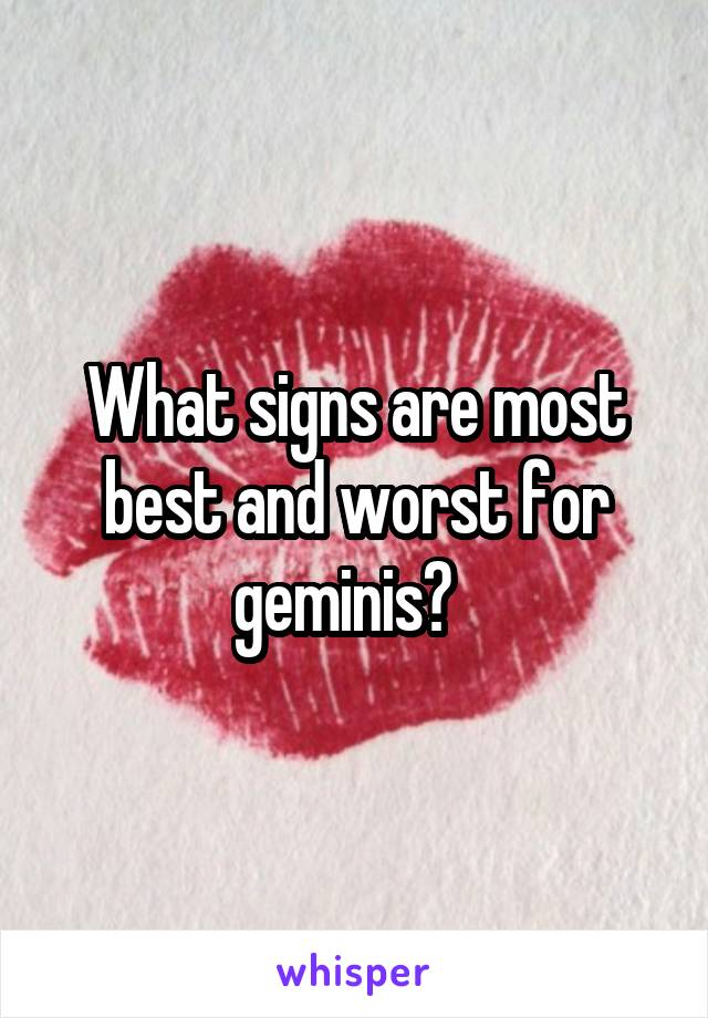 What signs are most best and worst for geminis?