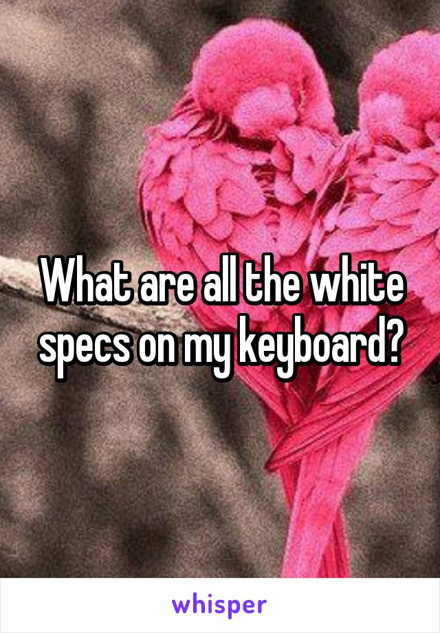 What are all the white specs on my keyboard?