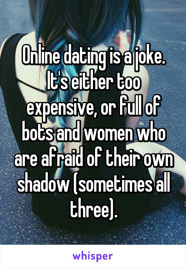 Dating is too expensive