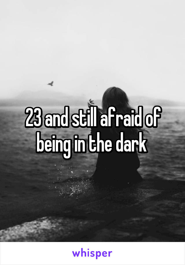 23 and still afraid of being in the dark