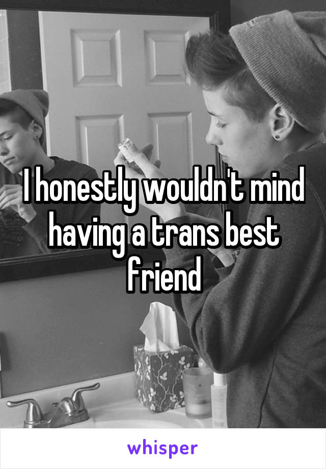 I honestly wouldn't mind having a trans best friend