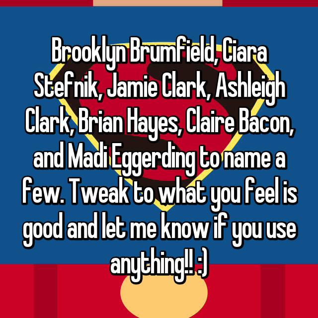Brooklyn Brumfield, Ciara Stefnik, Jamie Clark, Ashleigh