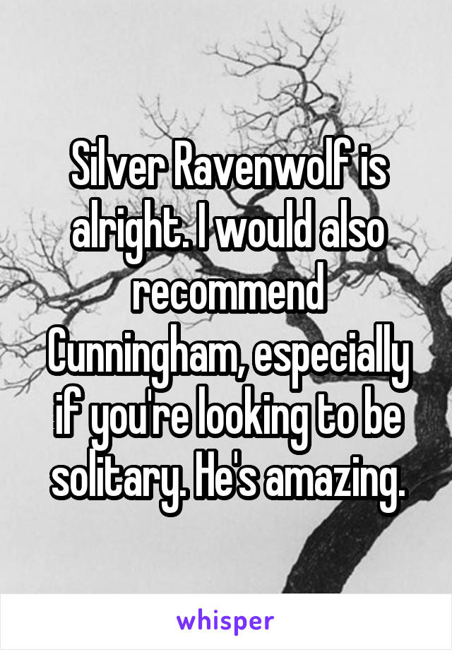Silver Ravenwolf is alright. I would also recommend Cunningham, especially if you're looking to be solitary. He's amazing.