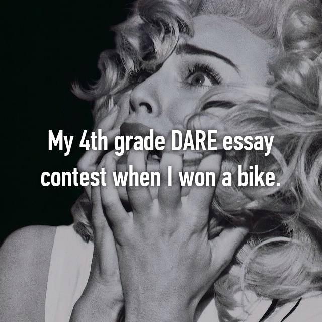 My 4th grade DARE essay contest when I won a bike.