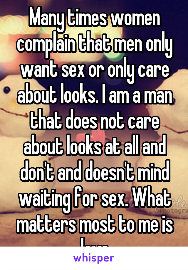 Why Do Men Only Want Sex From Me