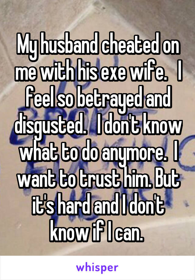 my husband cheated