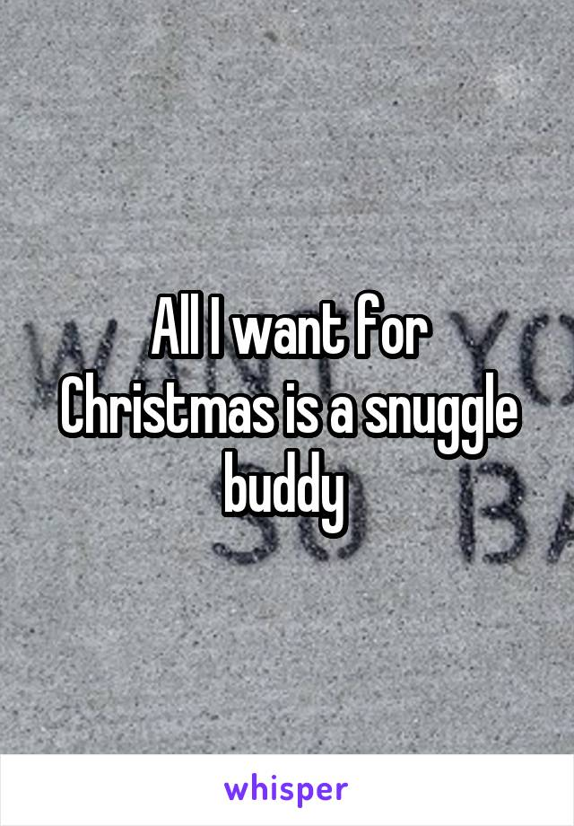 All I want for Christmas is a snuggle buddy