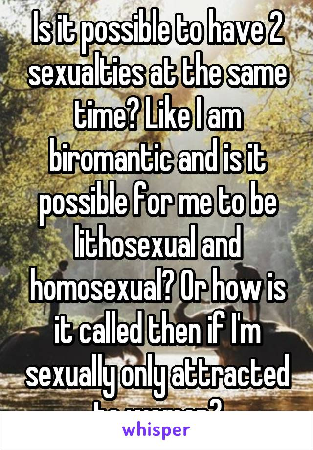 Lithosexual