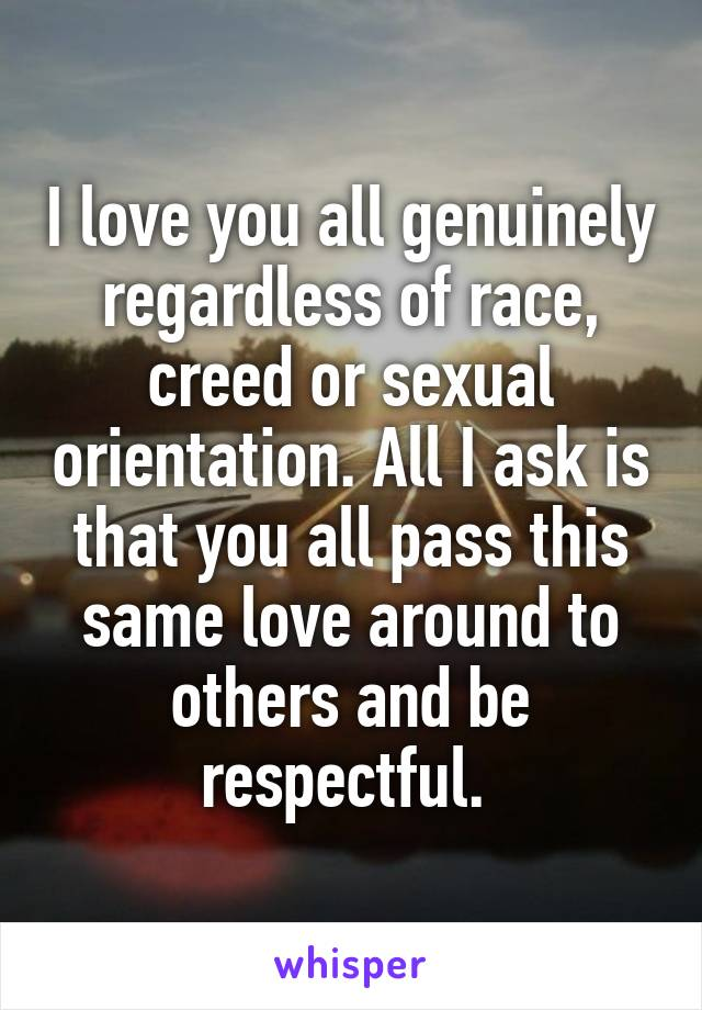 Race creed sexual orientation