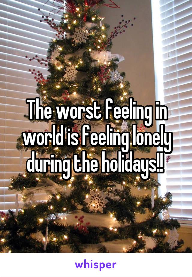 Lonely during the holidays
