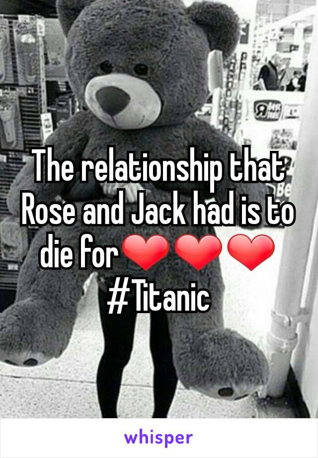 The relationship that Rose and Jack had is to die for❤❤❤ #Titanic