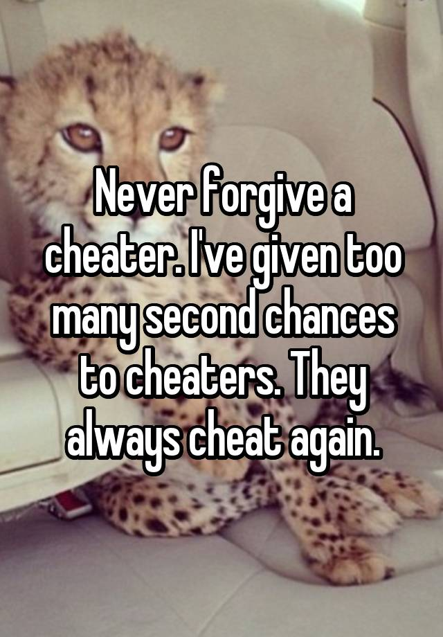 Never forgive a cheating wife