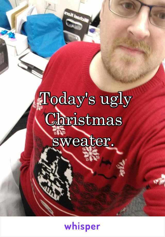 Today's ugly Christmas sweater.