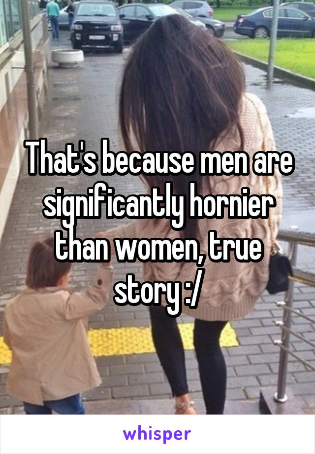 Who is hornier men or women