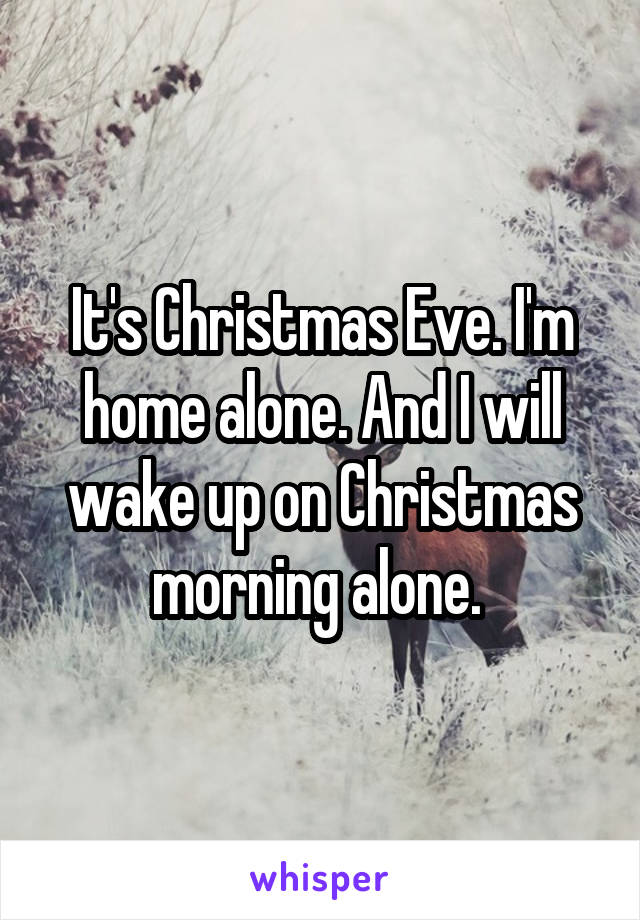 Alone For Christmas.It S Christmas Eve I M Home Alone And I Will Wake Up On