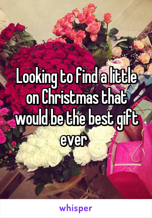 Looking to find a little on Christmas that would be the best gift ever