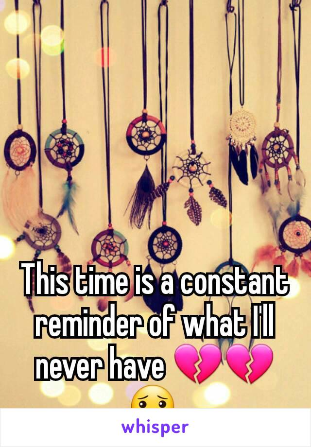 This time is a constant reminder of what I'll never have 💔💔😯