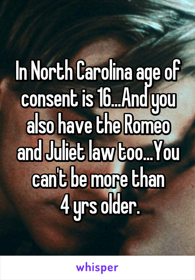 Age Carolina Of Dating In On Laws North