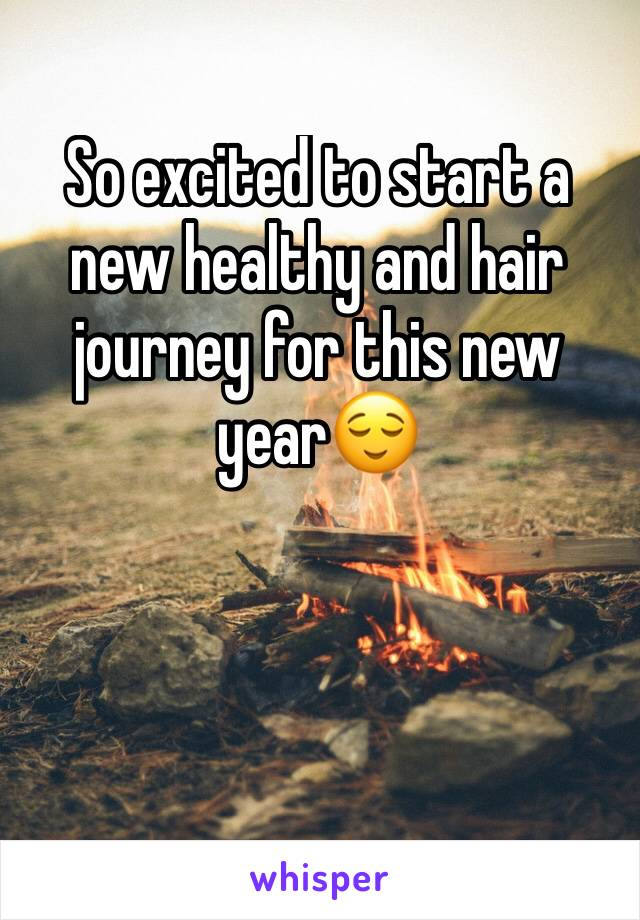 So excited to start a new healthy and hair journey for this new year😌