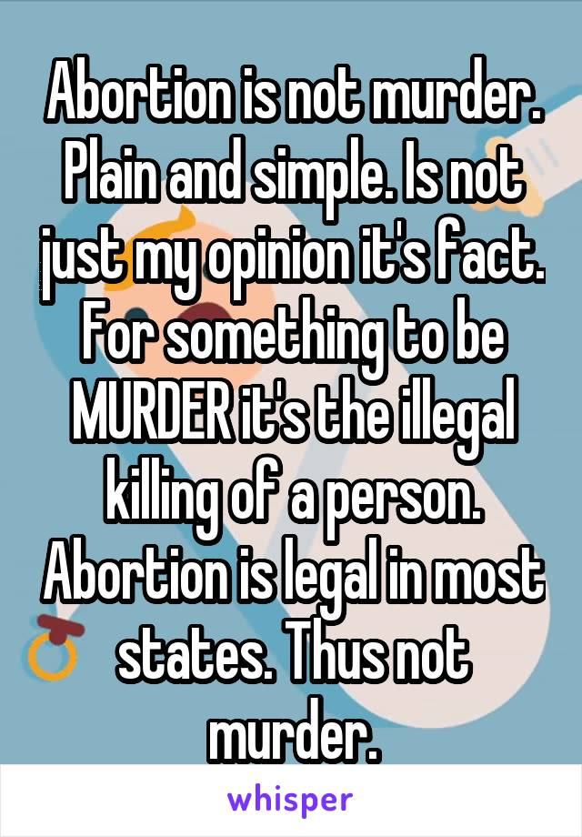abortion is not murder in the