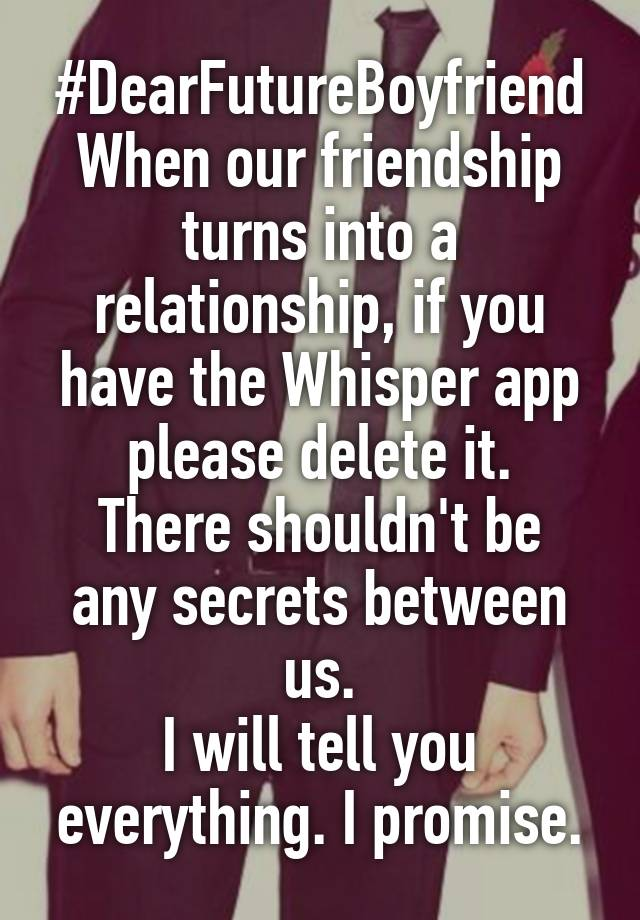 Friendship turns to relationship