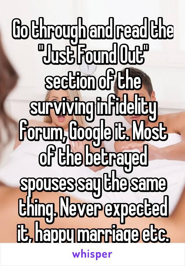 Survivinginfidelity forums