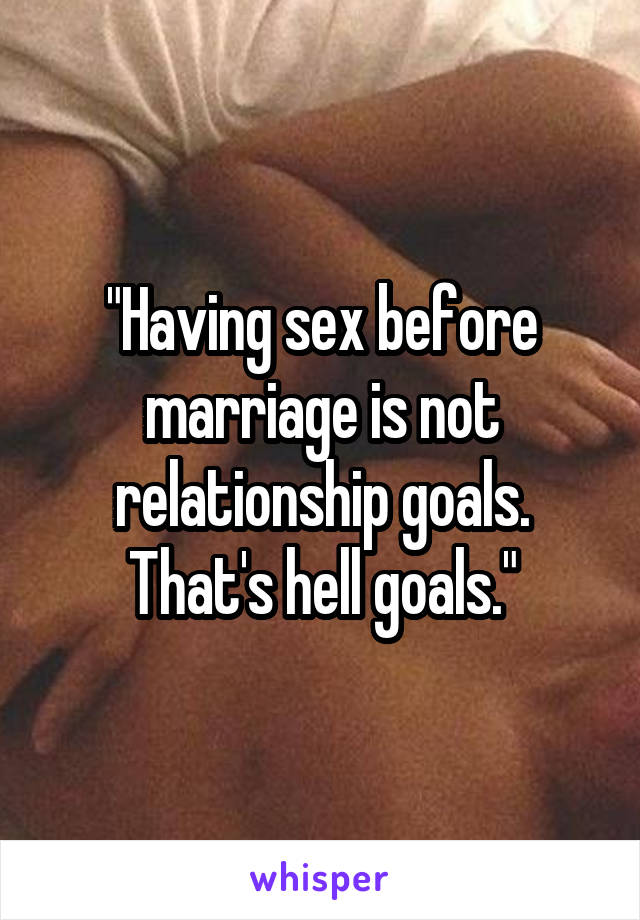 Sex before relationship
