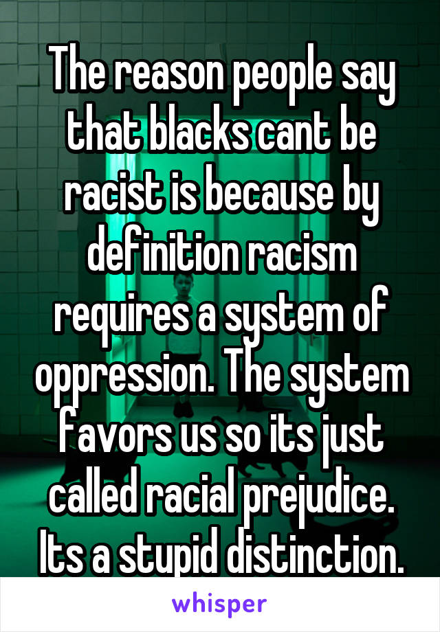 racial oppression definition