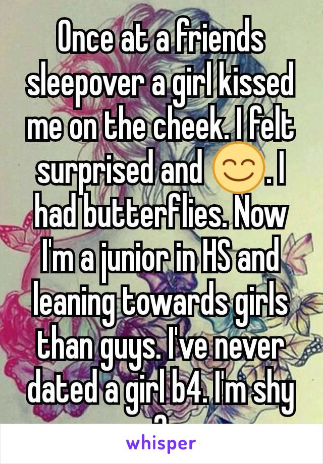 The On Kissed Cheek Me Girl