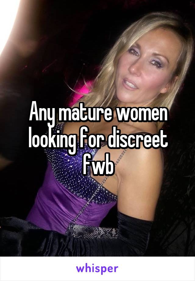 women Discreet mature