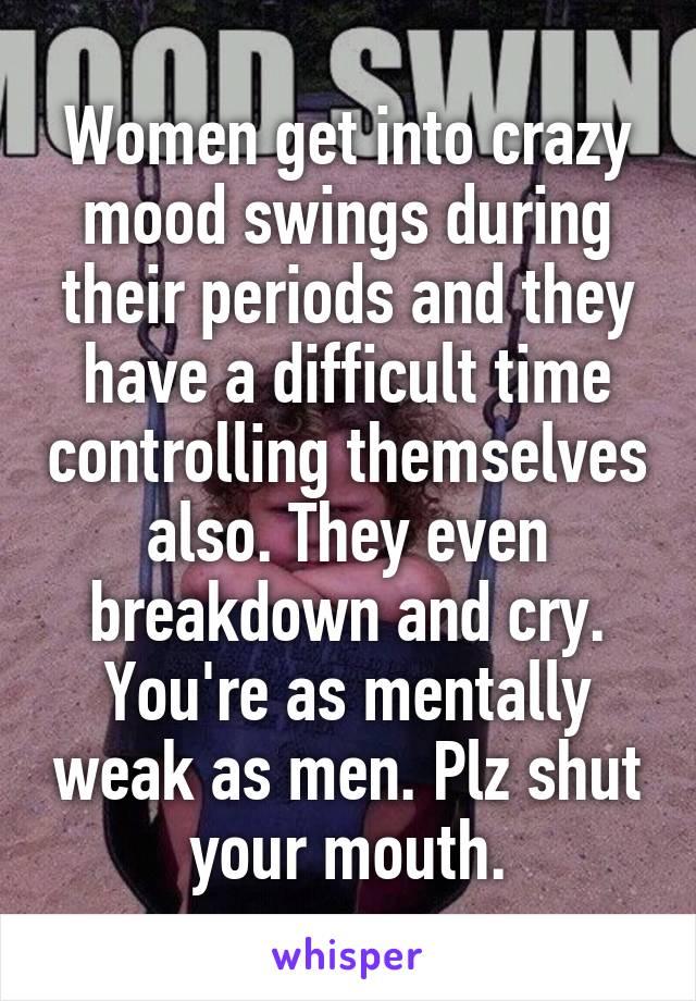Mood swings in women during periods