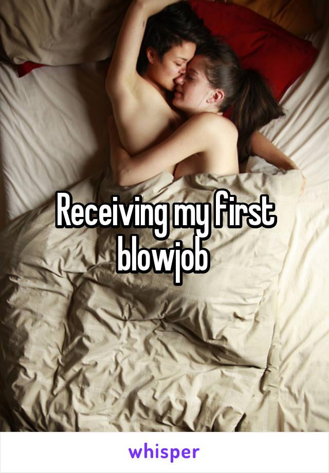 receiving first blowjob