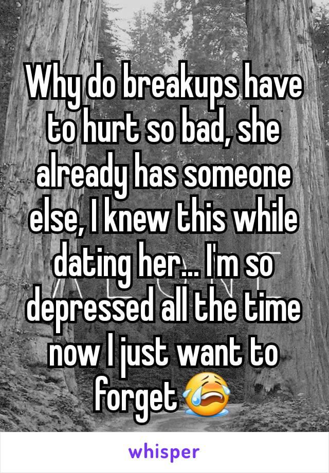 why breakups hurt so bad