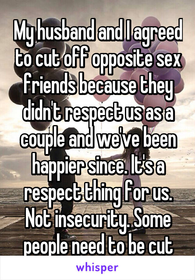 Here against Opposite sex friends think