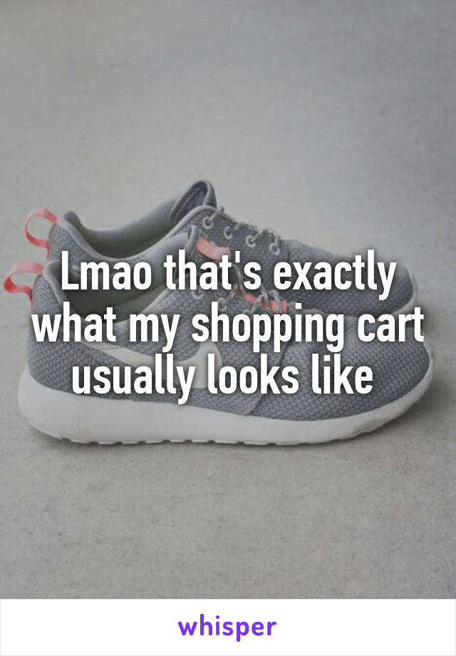 Lmao that's exactly what my shopping cart usually looks like