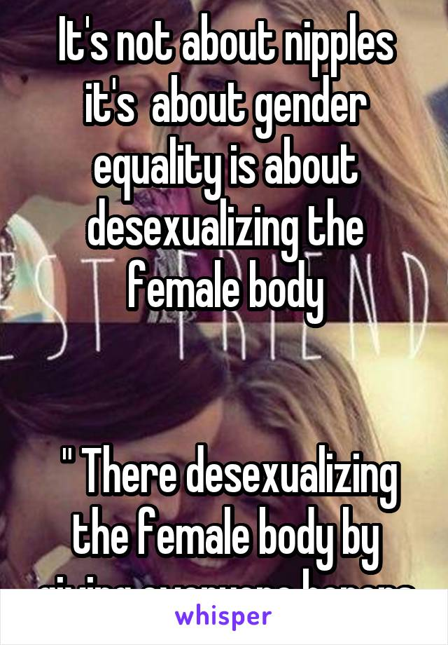 Desexualizing