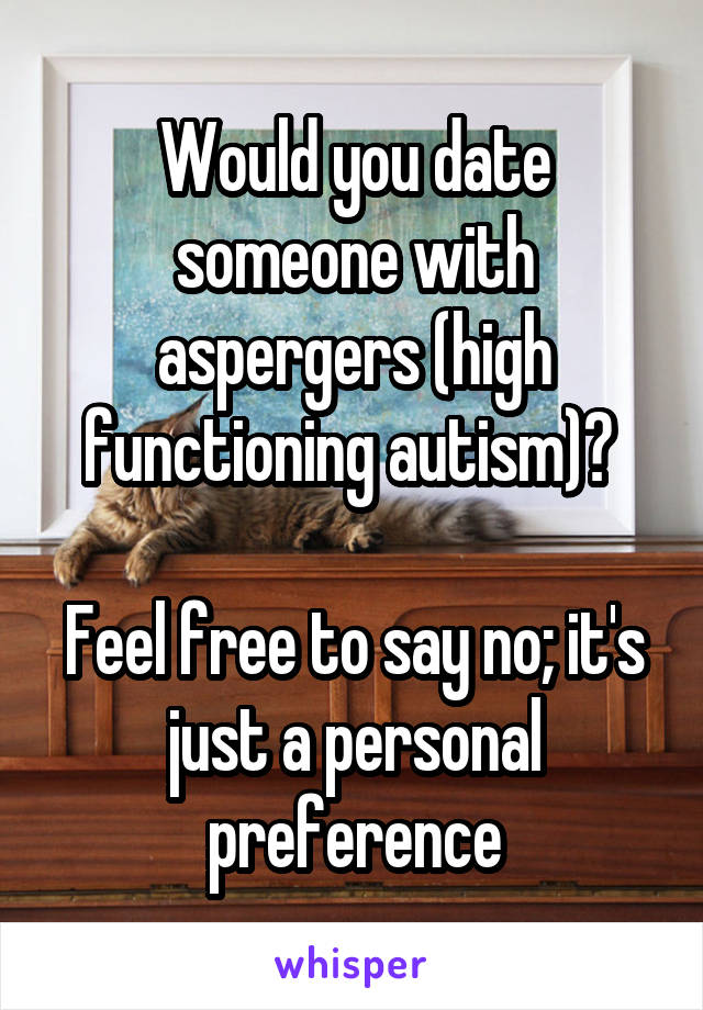 Dating someone with aspergers