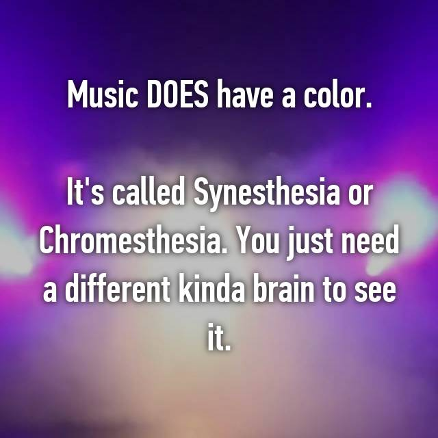 Music DOES have a color.  It's called Synesthesia or Chromesthesia. You just need a different kinda brain to see it. 😜