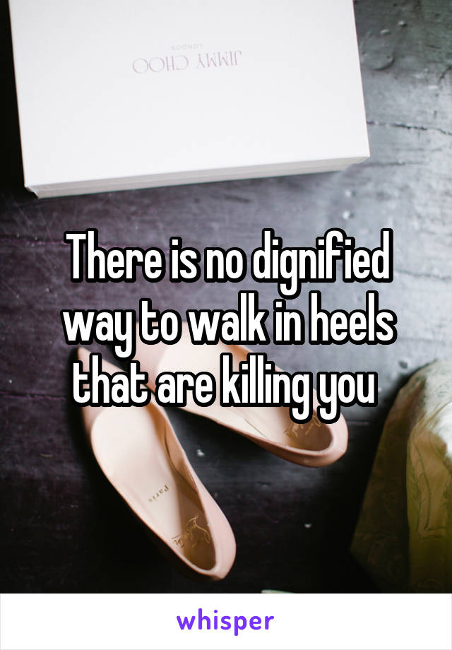There is no dignified way to walk in heels that are killing you